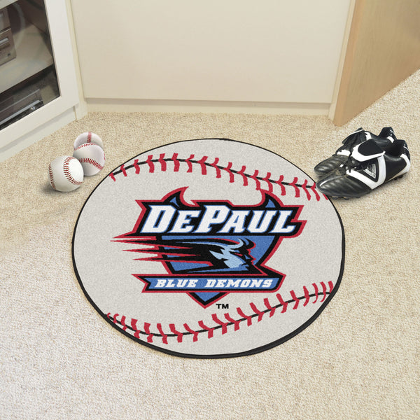 DePaul University Baseball Mat 27 diameter - FANMATS - Dropship Direct Wholesale