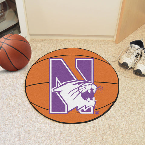 Northwestern University Basketball Mat 27 diameter - FANMATS - Dropship Direct Wholesale