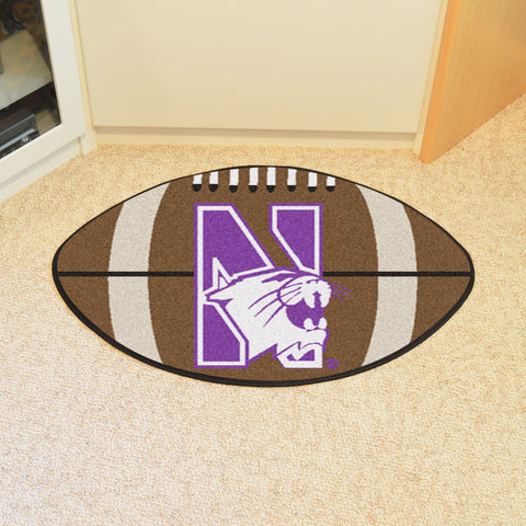 Northwestern University Football Rug 20.5x32.5 - FANMATS - Dropship Direct Wholesale