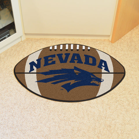 University of Nevada Football Rug 20.5x32.5 - FANMATS - Dropship Direct Wholesale
