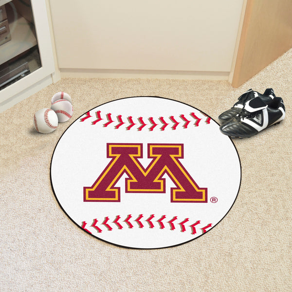 University of Minnesota Baseball Mat 27 diameter