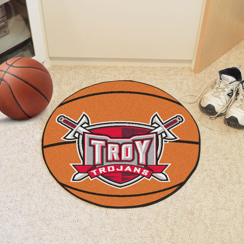 Troy University Basketball Mat 27 diameter - FANMATS - Dropship Direct Wholesale