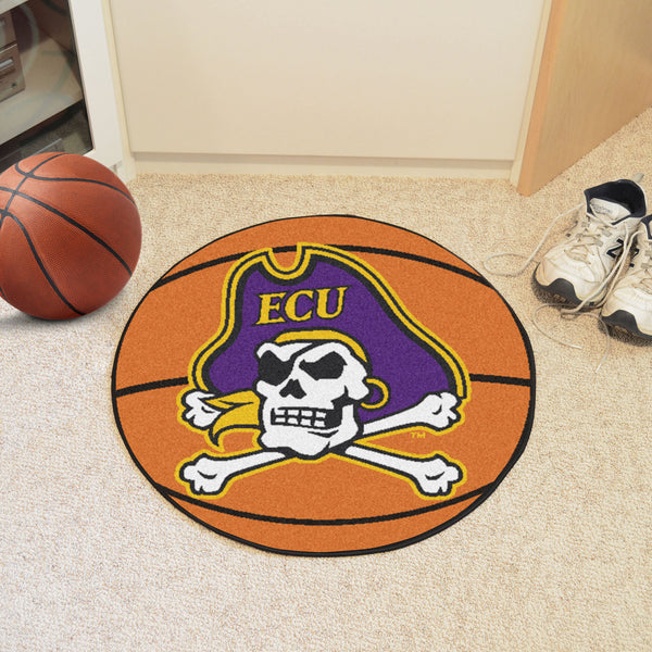 East Carolina University Basketball Mat 27 diameter - FANMATS - Dropship Direct Wholesale