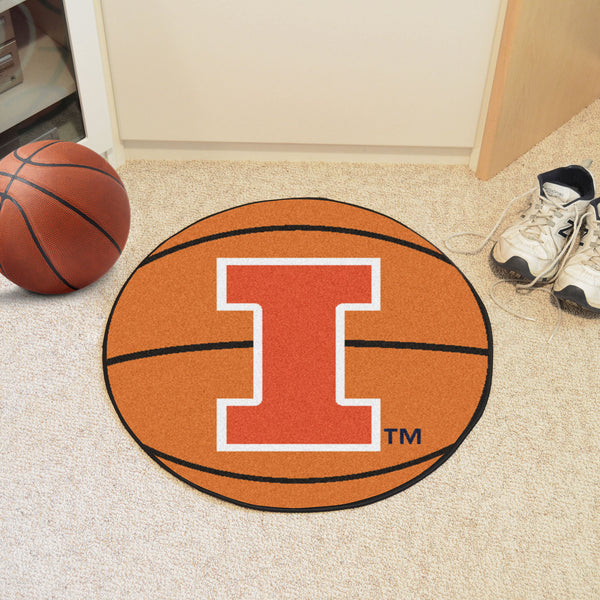 University of Illinois Basketball Mat 27 diameter - FANMATS - Dropship Direct Wholesale
