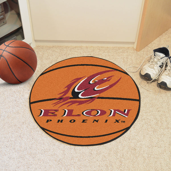 Elon University Basketball Mat 27 diameter - FANMATS - Dropship Direct Wholesale