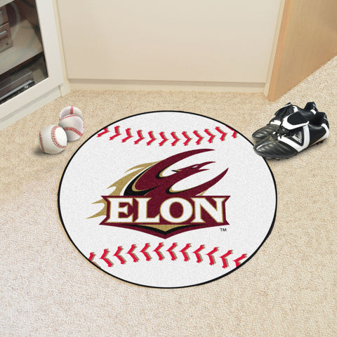 Elon University Baseball Mat 27 diameter