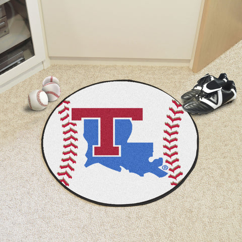 Louisiana Tech Baseball Mat 27 diameter - FANMATS - Dropship Direct Wholesale