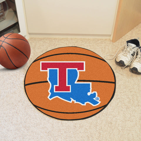 Louisiana Tech Basketball Mat 27 diameter - FANMATS - Dropship Direct Wholesale