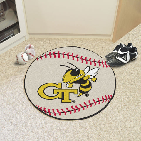 Georgia Tech Baseball Mat 27 diameter - FANMATS - Dropship Direct Wholesale