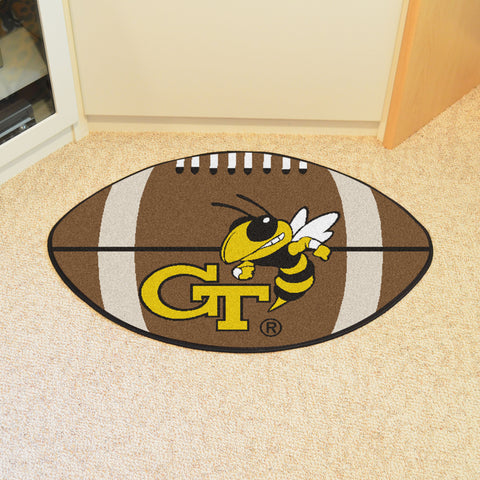 Georgia Tech Football Rug 20.5x32.5 - FANMATS - Dropship Direct Wholesale