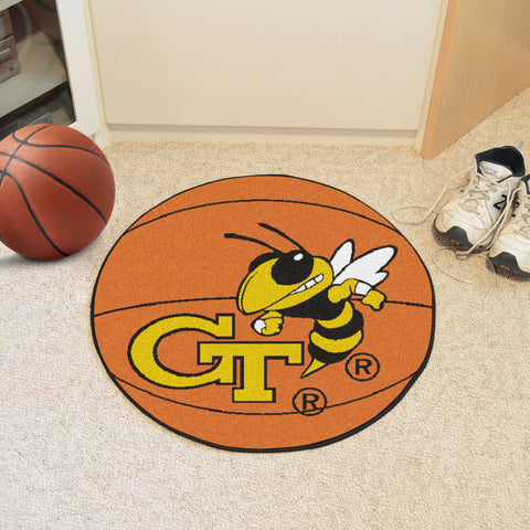 Georgia Tech Basketball Mat 27 diameter - FANMATS - Dropship Direct Wholesale