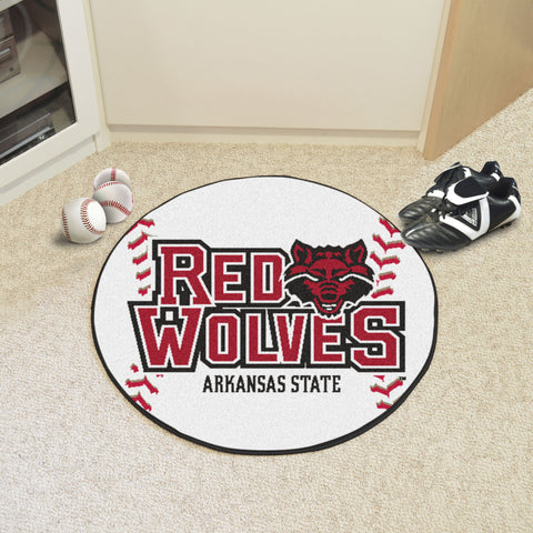 "Arkansas State Baseball Mat 27"" diameter - FANMATS - Dropship Direct Wholesale"