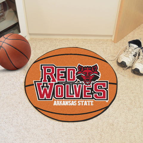 "Arkansas State Basketball Mat 27"" diameter - FANMATS - Dropship Direct Wholesale"