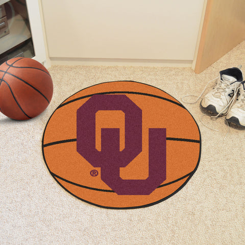 University of Oklahoma Basketball Mat 27 diameter - FANMATS - Dropship Direct Wholesale