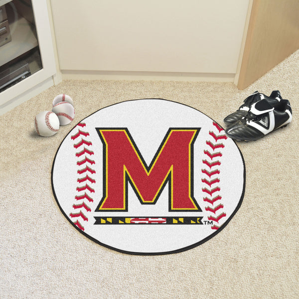 University of Maryland Baseball Mat 27 diameter - FANMATS - Dropship Direct Wholesale