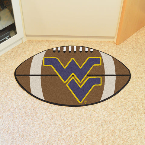West Virginia University Football Rug 20.5x32.5 - FANMATS - Dropship Direct Wholesale