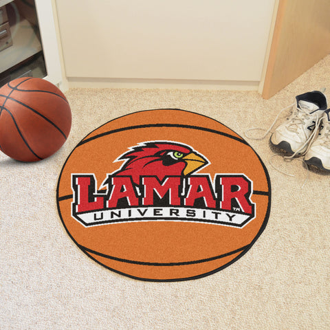 Lamar University Basketball Mat 27 diameter - FANMATS - Dropship Direct Wholesale
