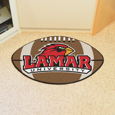 Lamar University Football Rug 20.5x32.5 - FANMATS - Dropship Direct Wholesale
