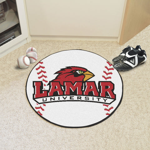 Lamar University Baseball Mat 27 diameter - FANMATS - Dropship Direct Wholesale