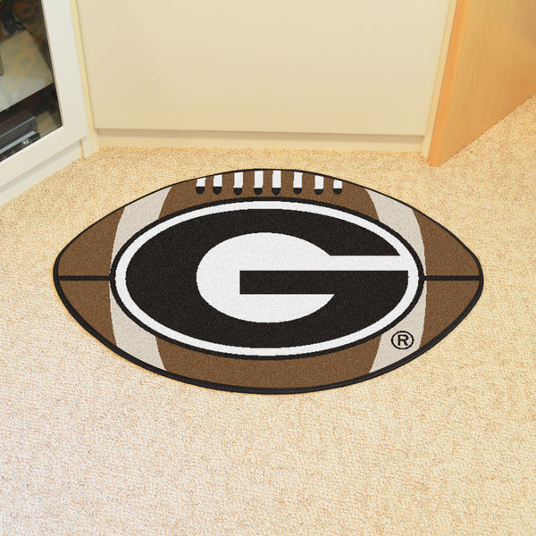 University of Georgia Football Mat 27 diameter - FANMATS - Dropship Direct Wholesale
