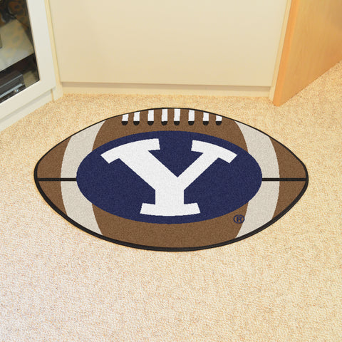 BYU Football Rug 20.5x32.5 - FANMATS - Dropship Direct Wholesale