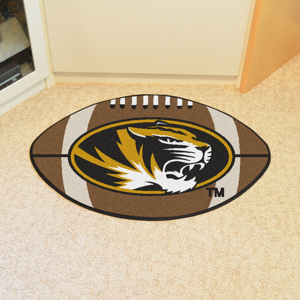 University of Missouri Football Rug 20.5x32.5 - FANMATS - Dropship Direct Wholesale