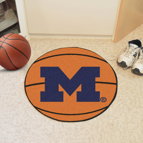 University of Michigan Basketball Mat 27 diameter - FANMATS - Dropship Direct Wholesale