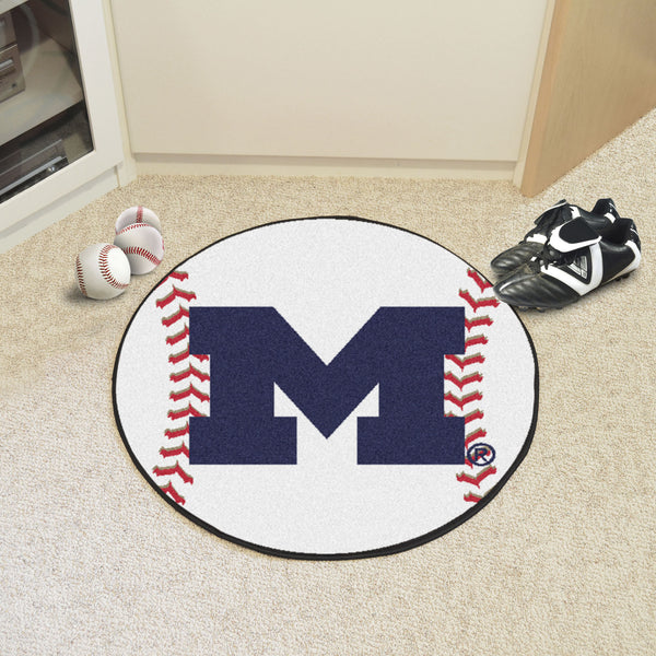 University of Michigan Baseball Mat 27 diameter - FANMATS - Dropship Direct Wholesale