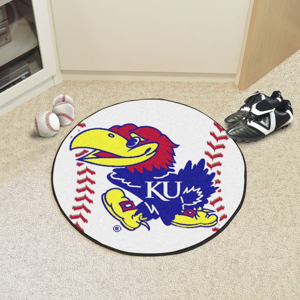 University of Kansas Baseball Mat 27 diameter - FANMATS - Dropship Direct Wholesale