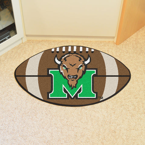 Marshall University Football Rug 20.5x32.5 - FANMATS - Dropship Direct Wholesale