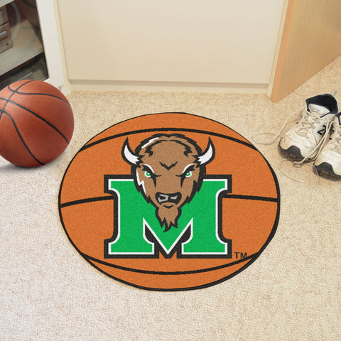 Marshall University Basketball Mat 27 diameter - FANMATS - Dropship Direct Wholesale
