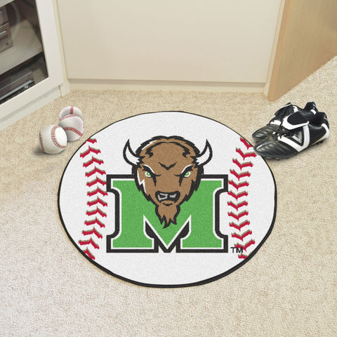 Marshall University Baseball Mat 27 diameter - FANMATS - Dropship Direct Wholesale