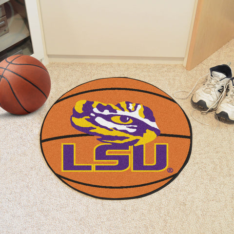 Louisiana State Basketball Mat 27 diameter - FANMATS - Dropship Direct Wholesale