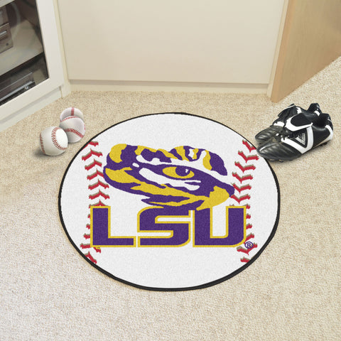 Louisiana State Baseball Mat 27 diameter - FANMATS - Dropship Direct Wholesale