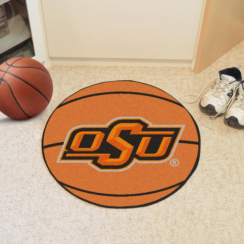 Oklahoma State Basketball Mat 27 diameter - FANMATS - Dropship Direct Wholesale