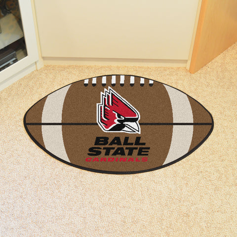 Ball State Football Rug 20.5x32.5 - FANMATS - Dropship Direct Wholesale