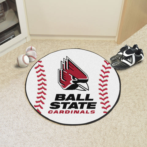 Ball State Baseball Mat 27 diameter - FANMATS - Dropship Direct Wholesale