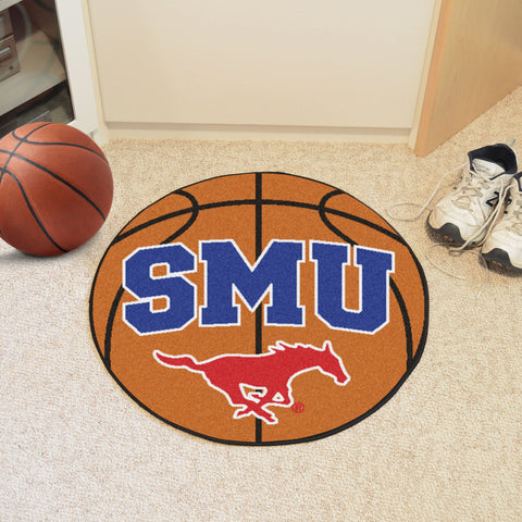 Southern Methodist U Basketball Mat 27 diameter - FANMATS - Dropship Direct Wholesale