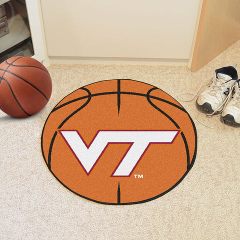 Virginia Tech Basketball Mat 27 diameter - FANMATS - Dropship Direct Wholesale