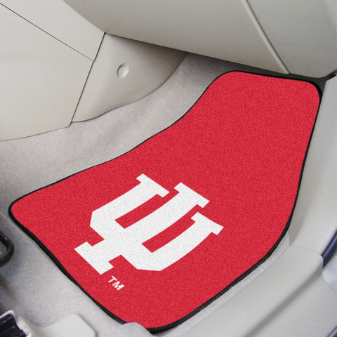 Indiana University 2-piece Carpeted Car Mats 17x27 - FANMATS - Dropship Direct Wholesale