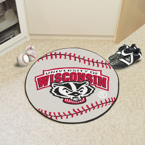 University of Wisconsin Baseball Mat 27 diameter - FANMATS - Dropship Direct Wholesale