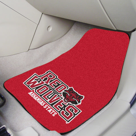 "Arkansas State 2-piece Carpeted Car Mats 17""x27"" - FANMATS - Dropship Direct Wholesale"