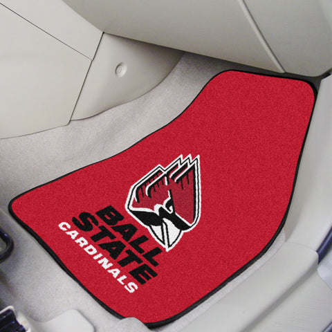 Ball State 2-piece Carpeted Car Mats 17x27 - FANMATS - Dropship Direct Wholesale