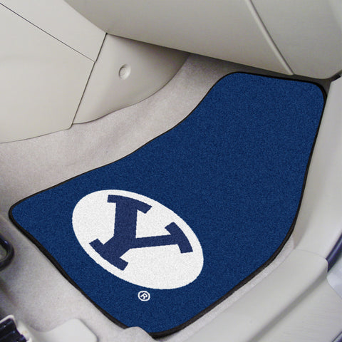 BYU 2-piece Carpeted Car Mats 17x27 - FANMATS - Dropship Direct Wholesale