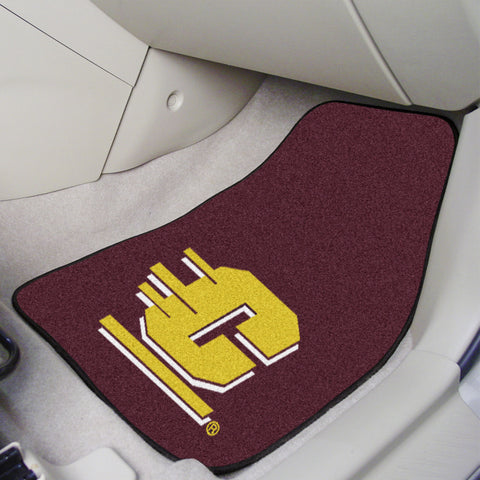 Central Michigan University 2-piece Carpeted Car Mats 17x27 - FANMATS - Dropship Direct Wholesale