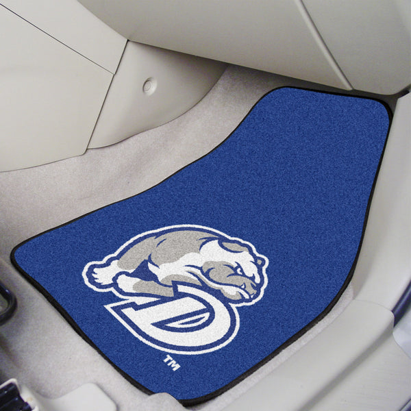 Drake University 2-piece Carpeted Car Mats 17x27 - FANMATS - Dropship Direct Wholesale