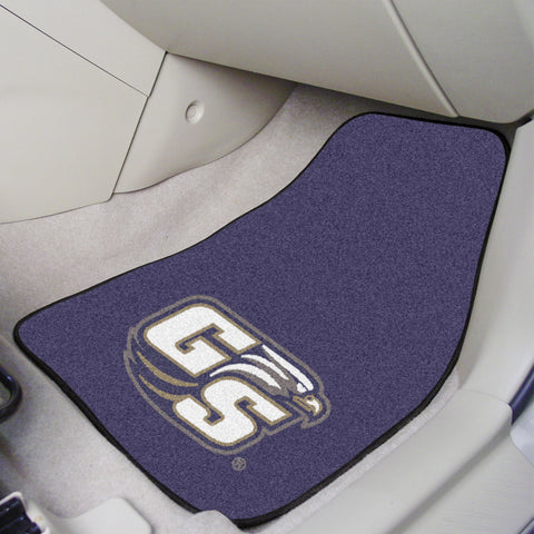 Georgia Southern University 2-piece Carpeted Car Mats 17x27 - FANMATS - Dropship Direct Wholesale
