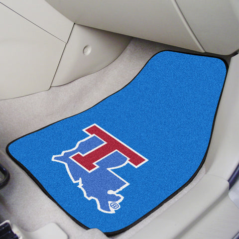 Louisiana Tech 2-piece Carpeted Car Mats 17x27 - FANMATS - Dropship Direct Wholesale