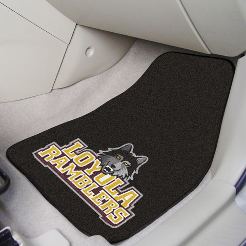 Loyola University 2-piece Carpeted Car Mats 17x27 - FANMATS - Dropship Direct Wholesale