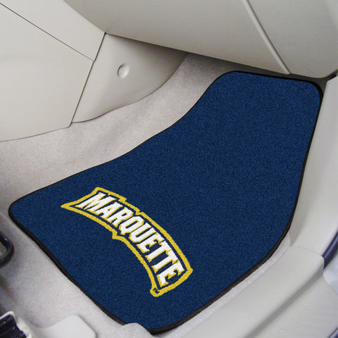 Marquette University 2-piece Carpeted Car Mats 17x27 - FANMATS - Dropship Direct Wholesale